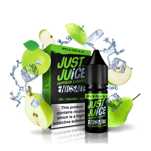 Just Juice - Apple & Pear on Ice Nic Salt - 10ml