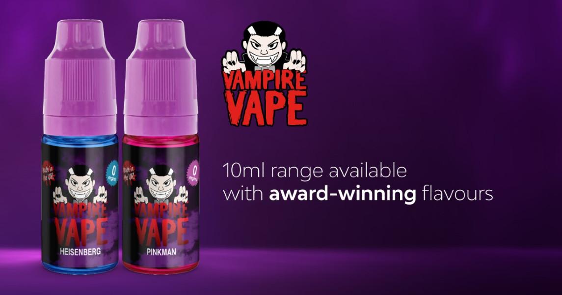 Vampire Vape 10ml Range Vape Juice E-Liquid Banner Deal