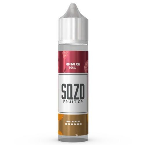 SQZD E-Liquid Vape Juice 50ml Bottle Blood Orange High VG Shortfill