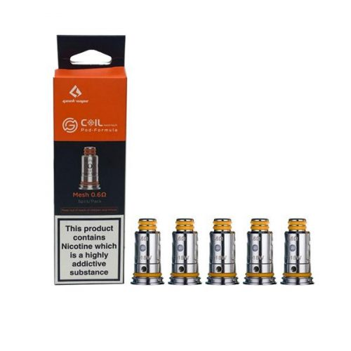 Pack of 5 genuine replacement Geek Vape G coils 1.2Ω Ohm.