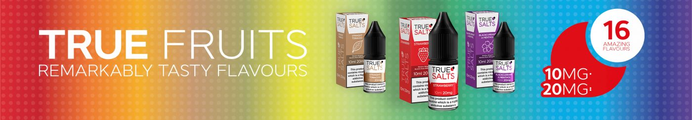 True Salts Banner Products Flavours